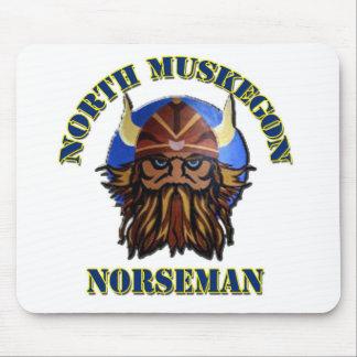 North Muskegon High School Norseman - Mousepad