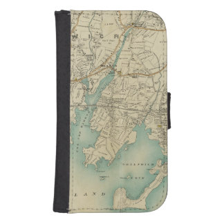North New York City 7 Wallet Phone Case For Samsung Galaxy S4