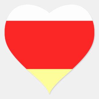 North Ossetia.jpg Heart Sticker