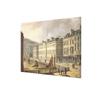 North Parade, from 'Bath Illustrated by a Series o Canvas Print