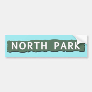 North Park Sign Bumper Sticker