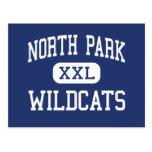 North Park - Wildcats - High - Walden Colorado Postcard
