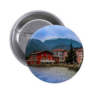 North part of Lago Di Garda, Torbole, Italy Button