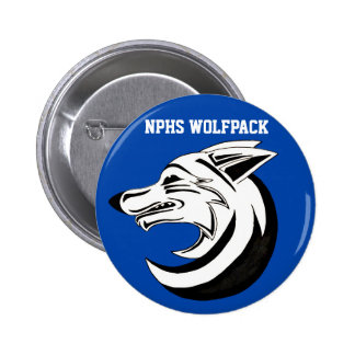 North Paulding High School Wolfpack Button 1