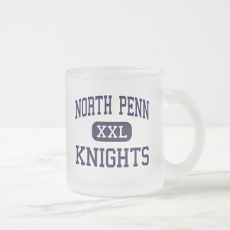 North Penn - Knights - High - Lansdale 10 Oz Frosted Glass Coffee Mug