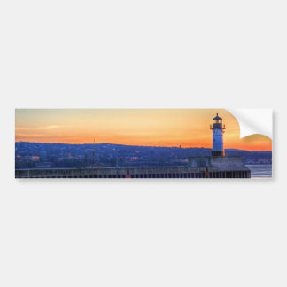 North Pier and Lighthouse Bumper Sticker