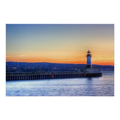 North Pier and Lighthouse Poster