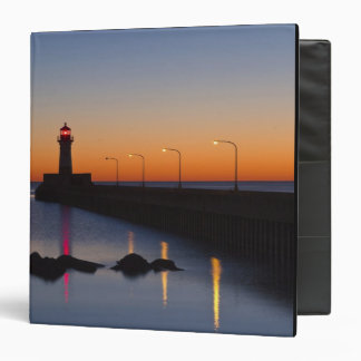 North pier Lighthouse in Duluth, Minnesota, 3 Ring Binders