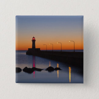 North pier Lighthouse in Duluth, Minnesota, Button