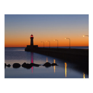 North pier Lighthouse in Duluth, Minnesota, Postcard