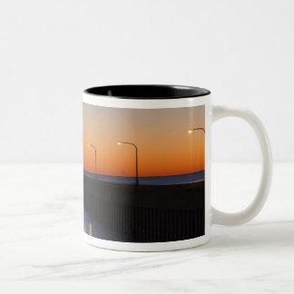 North pier Lighthouse in Duluth, Minnesota, Two-Tone Coffee Mug