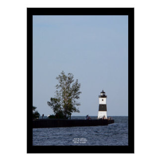 North Pier Lighthouse Presque Isle PA Poster