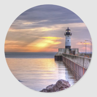 North Pier Morning Classic Round Sticker
