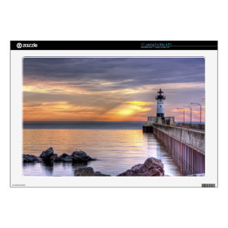 "North Pier Morning Decals For 17"" Laptops"