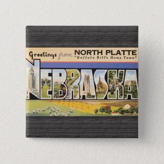 "North Plate ""Buffalo Bill'S Home Town"" Nebraska, V Button"