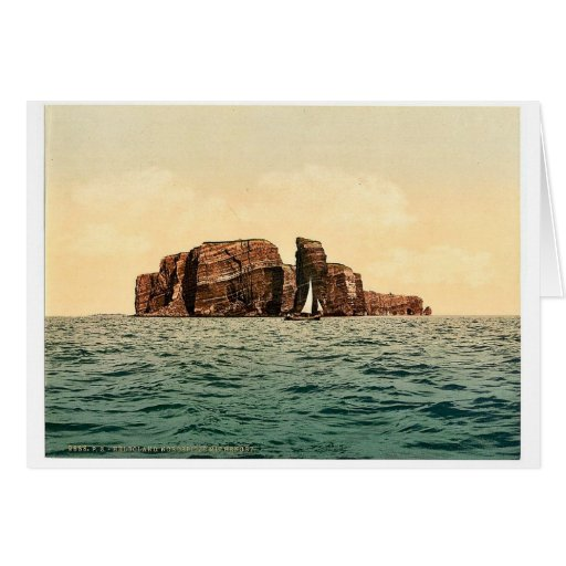 North Point and Hengst, Helgoland, Germany magnifi Greeting Card
