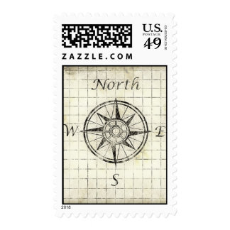 North Point Compass Direction - Old Map Stamps