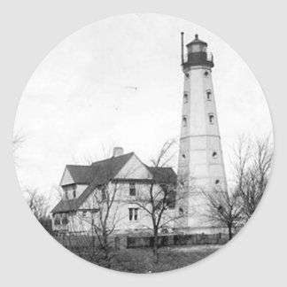 North Point Lighthouse Classic Round Sticker