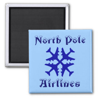 North Pole Airlines Magnet