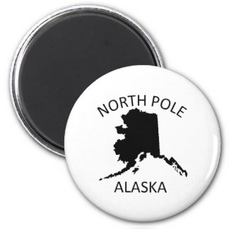 North Pole Alaska Fridge Magnet