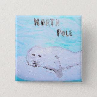 North Pole Baby Harp Seal Pinback Button