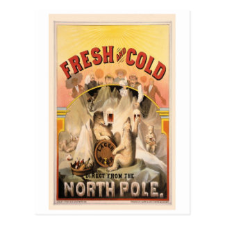 North Pole BEER Ice COLD Vintage Advertisement Postcard