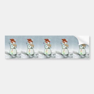 North Pole Bound Snowman Bumper Sticker