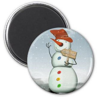 North Pole Bound Snowman Magnet