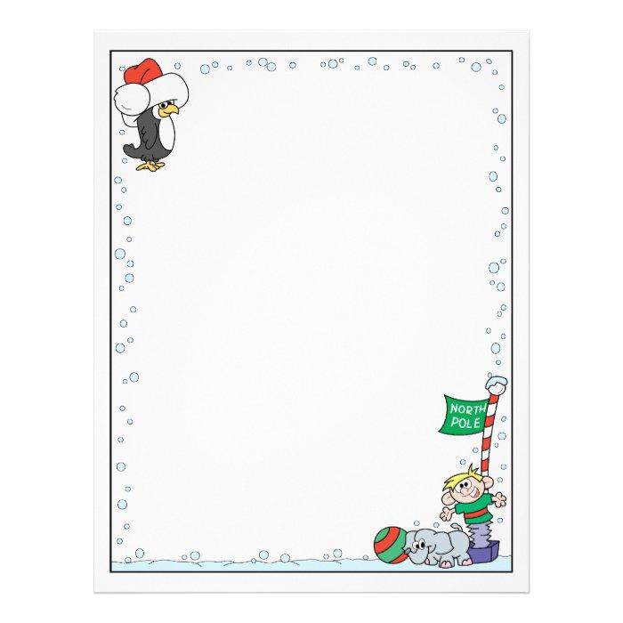 North Pole Christmas Letterhead Template