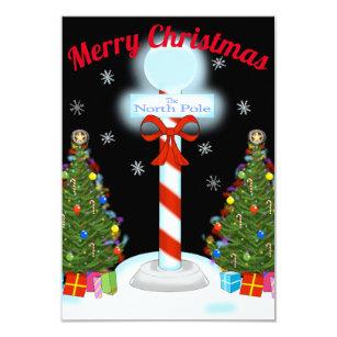 north pole christmas invitations zazzle