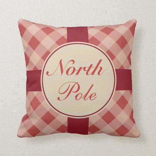 North Pole Christmas Pillow