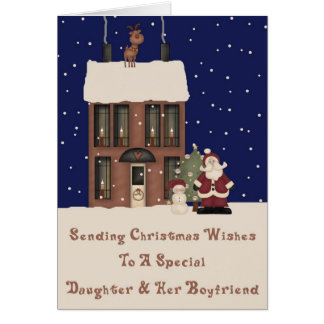 North Pole Christmas Wishes Daughter & Boyfriend Greeting Card