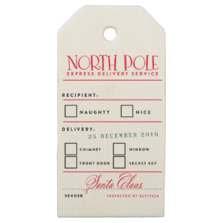 NORTH POLE DELIVERY holiday christmas Gift Tags