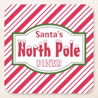 North Pole  Diner Coasters Square Paper Coaster