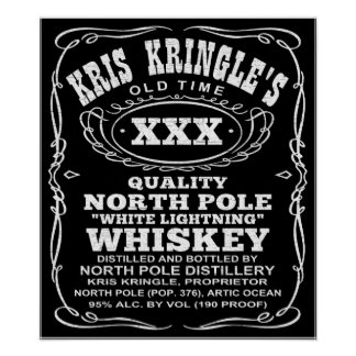 North Pole Distillery Christmas Whiskey Poster