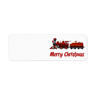 north pole express christmas train labels