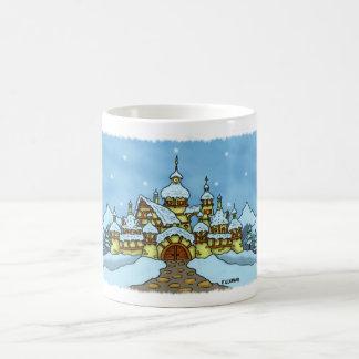 north pole holiday mug w snowy edge