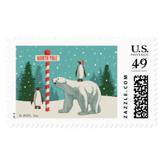 North Pole Holiday Stamp