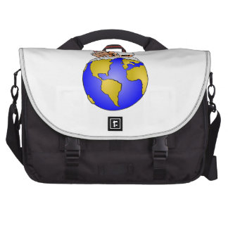 North Pole Home of Santa Laptop Bags