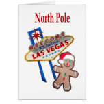 North Pole Las Vegas Christmas Card Gingerbread M