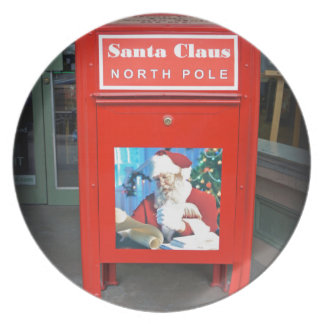 North Pole Letters Melamine Plate