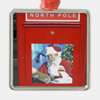 North Pole Letters Metal Ornament