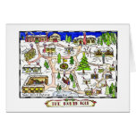 North Pole Map Christmas Card