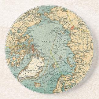 North Pole Map Drink Coaster