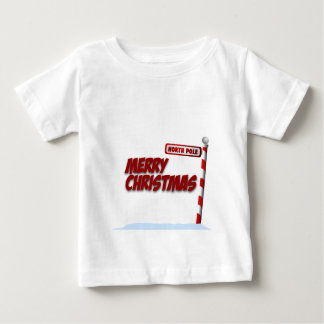 North Pole Merry Christmas kids Shirt