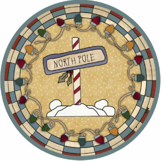 North Pole Ornament Photo Sculptures