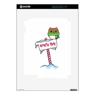 NORTH POLE OWL DECAL FOR iPad 2