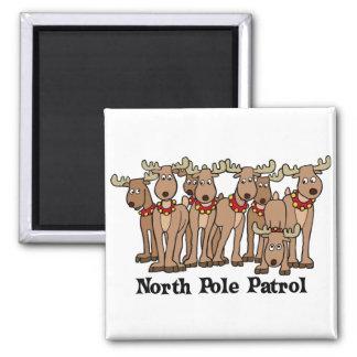North Pole Patrol Refrigerator Magnet