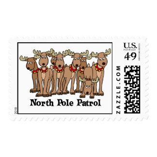 North Pole Patrol Postage