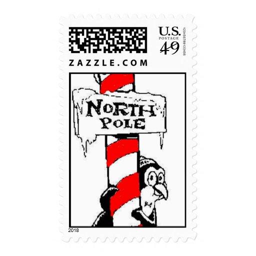 North Pole Penguin Christmas Postage
